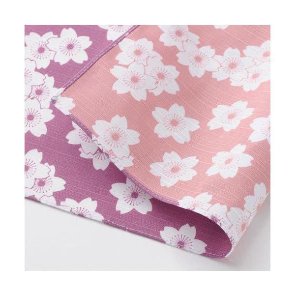 三巾 伊砂文様  両面ふろしき・袋入・104×104 桜 パープル/ウスピンク