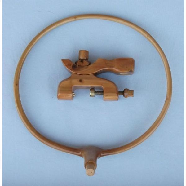 908-3 美濃天然木枠玉置 弓万力付き 日本製釣具