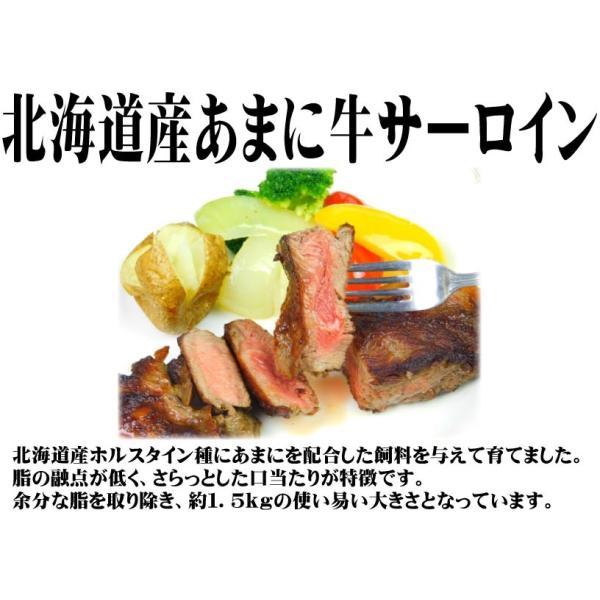 【クリポス不可】【クール便発送】ニチレイF 北海道あまに牛サーロイン約1.5kg|ootuki