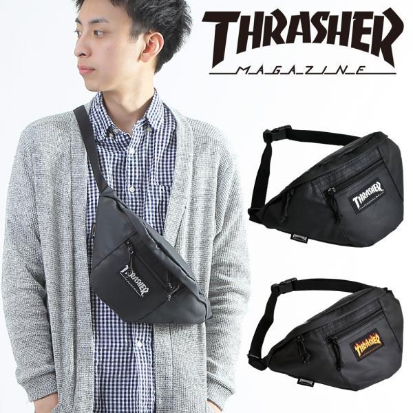 ウエストバッグ ボディバッグ メンズ レディース スラッシャー THRASHER ブランド おしゃれ 大容量 メール便送料無料