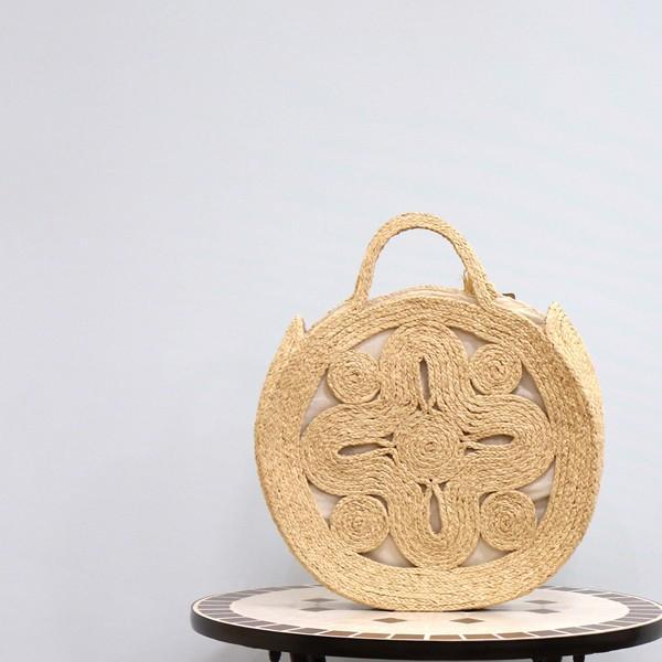 Sans Arcidet(サンアルシデ)SIKA BAG L ラフィア サークル カゴバッグ