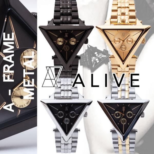 quality design 21dcb 6eeab ALIVE WATCH アライブ 腕時計 時計 メンズ ALIVE ATHLETICS alive A-FRAME METAL A-フレーム・メタル  アライヴ 時計 ウォッチ レディース メンズ