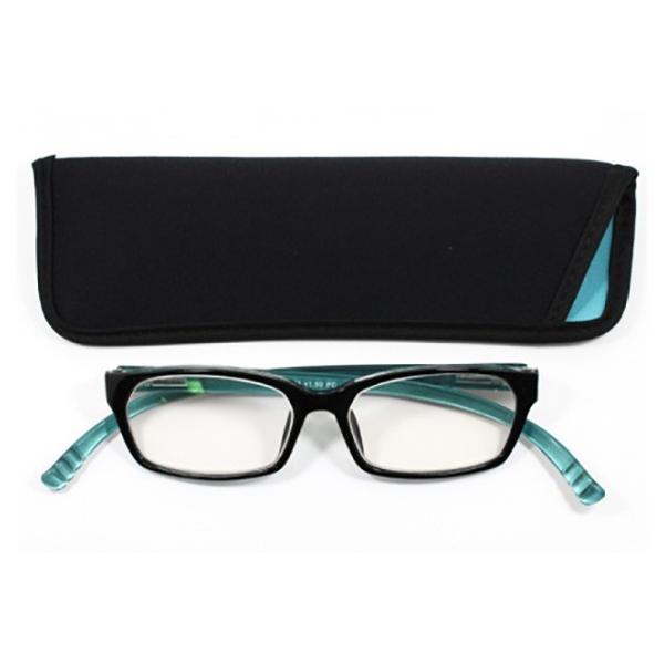 老眼鏡 シニアグラス おしゃれ 首かけ ネックリーダーウェリントン G091W-03A スカイ 敬老の日 プレゼント