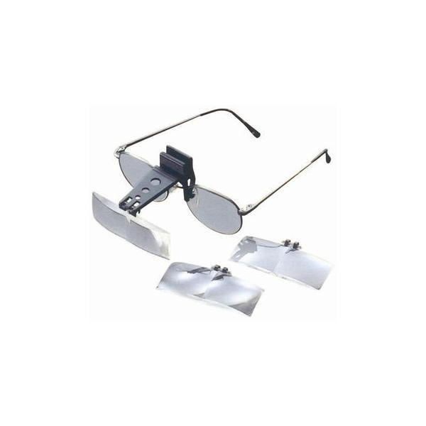 ルーペ 拡大鏡 双眼 ヘッドルーペ メガネクリップ式ヘッドルーペ LH-48