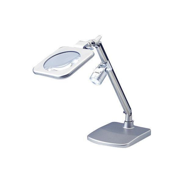 LEDライト付きスタンドルーペ 拡大鏡 RX-120