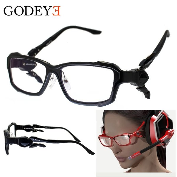 GODEYE (ゴッドアイ) GE-01 ゲーミング PCメガネ ヘッドセットモードへ変形