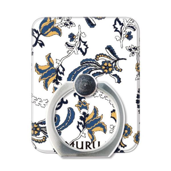 スマホリング スマートフォン リング ホールドリング スタンド MURUA(ムルーア)×Gizmobies/PAISLEY FLOWER お取り寄せ option