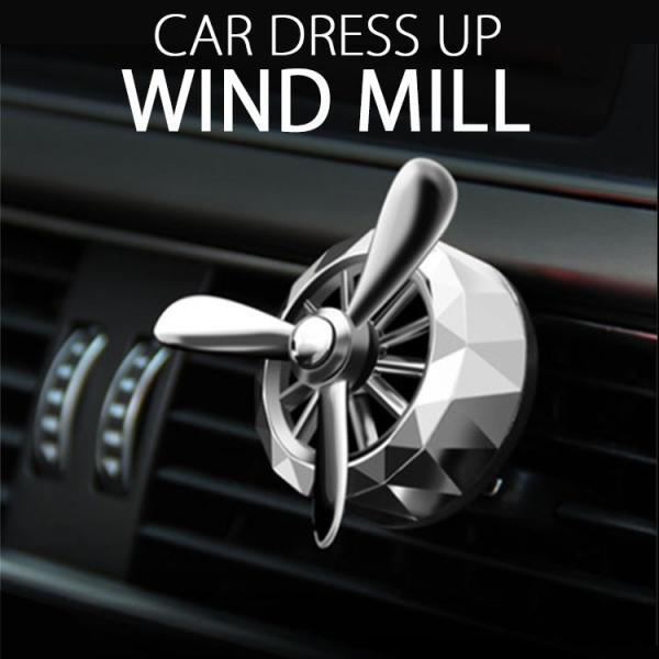 車用エアコンサーキュレーター 代わりに 車 エアコン 送風口 プロペラ DRESS UP WINDMILL 車ドレスアップ用品