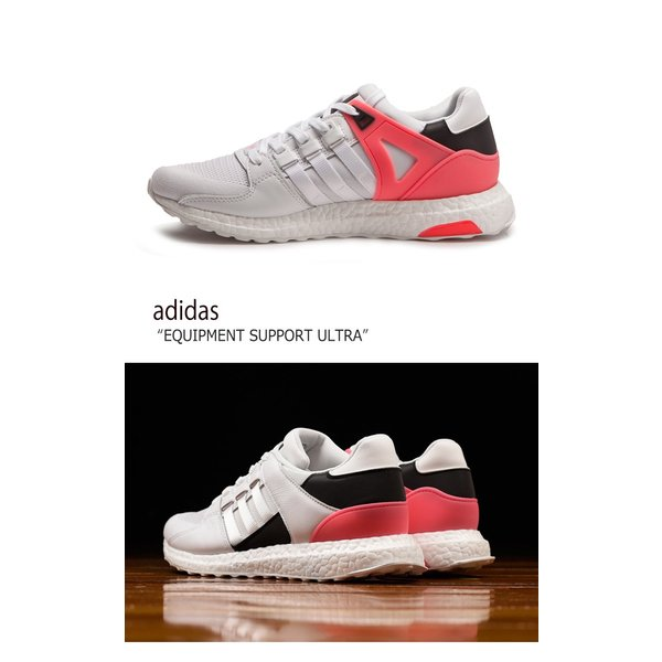 adidas EQUIPMENT SUPPORT ULTRA White Turbo Red Black アディダス エキップメント BA7474 シューズ