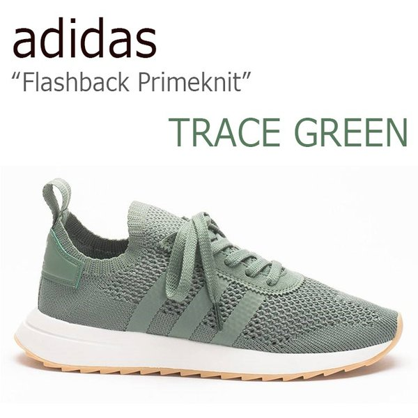 hot sale online a519a 990a4 adidas Flashback Primeknit Trace Green Crystal White アディダス フラッシュバック プライムニット  BY2798 バッグ スニーカー| ...