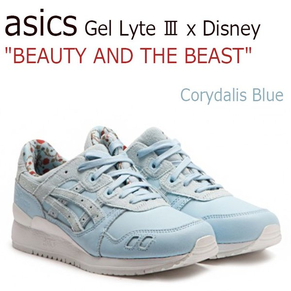 asics Gel Lyte III x Disney BEAUTY AND THE BEAST Corydalis Blue アシックス ゲルライト3 ディズニー 美女と野獣 H70PK-5454 シューズ|option