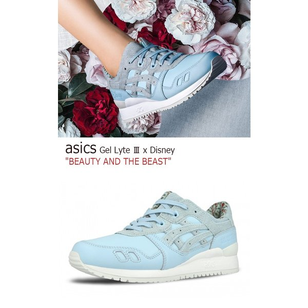 asics Gel Lyte III x Disney BEAUTY AND THE BEAST Corydalis Blue アシックス ゲルライト3 ディズニー 美女と野獣 H70PK-5454 シューズ|option|02