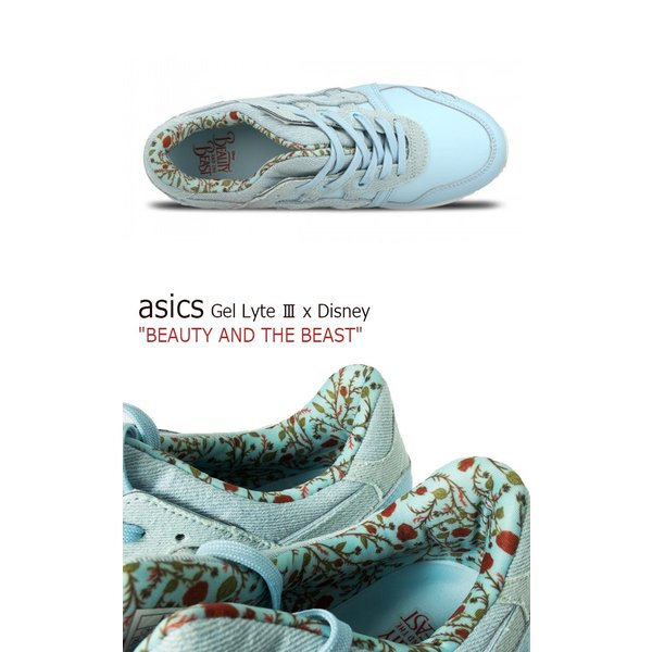 asics Gel Lyte III x Disney BEAUTY AND THE BEAST Corydalis Blue アシックス ゲルライト3 ディズニー 美女と野獣 H70PK-5454 シューズ|option|03