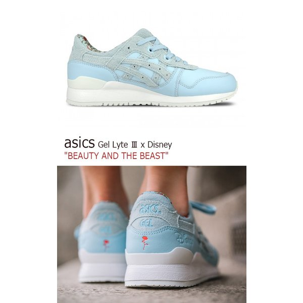 asics Gel Lyte III x Disney BEAUTY AND THE BEAST Corydalis Blue アシックス ゲルライト3 ディズニー 美女と野獣 H70PK-5454 シューズ|option|04