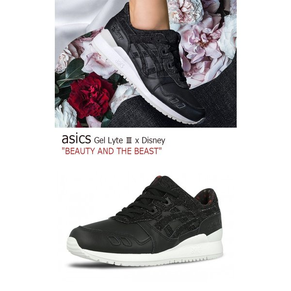 asics Gel Lyte III x Disney BEAUTY AND THE BEAST Black Black アシックス ゲルライト3 ディズニー 美女と野獣 H70PK-9090 シューズ|option|02