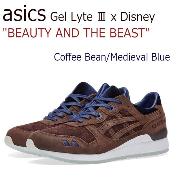 asics Gel Lyte III x Disney BEAUTY AND THE BEAST Coffee Bean Medieval Blue アシックス ディズニー 美女と野獣 H70NK-2949 シューズ|option|01