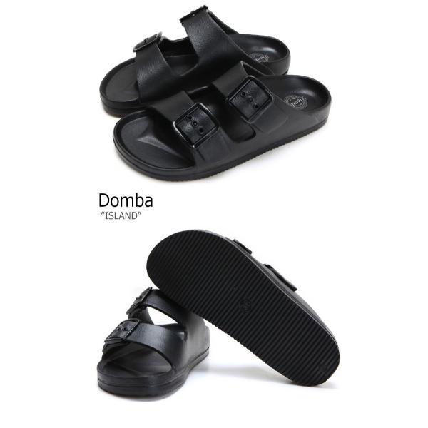 ドンバ サンダル DOMBA メンズ レディース ISLAND アイランド BLACK ブラック EV-3011 シューズ