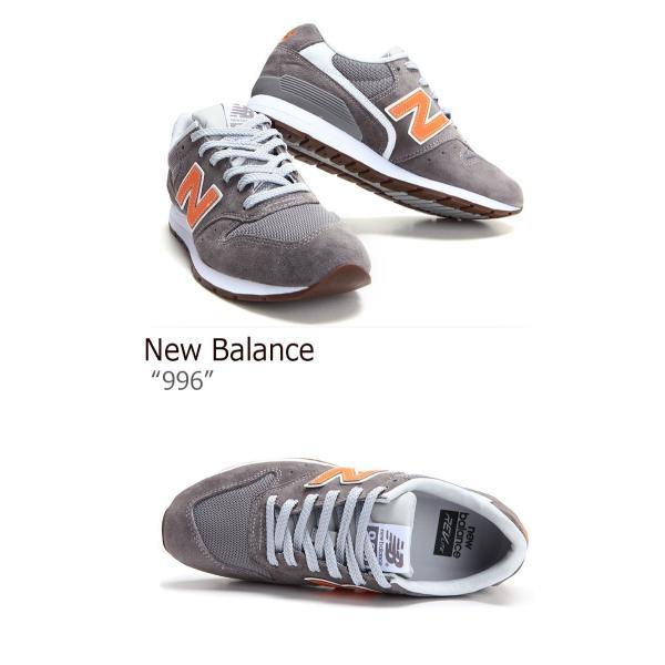 ニューバランス 996 スニーカー New Balance メンズ レディース ニューバランス996 GRAY ORANGE グレー オレンジ MRL996JD シューズ