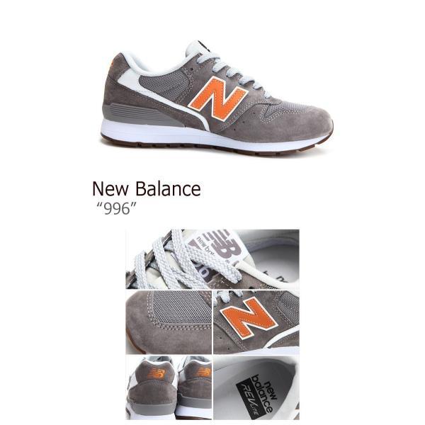 ニューバランス 996 スニーカー New Balance メンズ レディース ニューバランス996 GRAY ORANGE グレー オレンジ MRL996JD シューズ|option|03