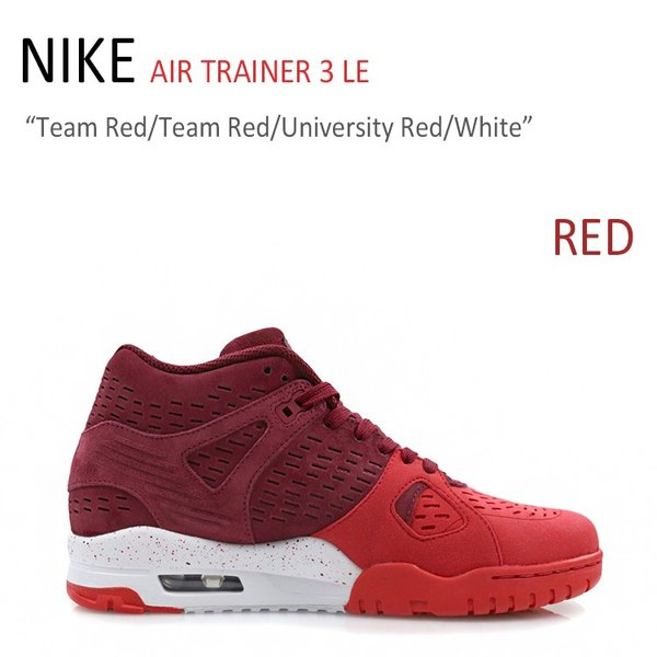 59ab70151713 NIKE AIR TRAINER 3 LE Team Red University Red White ナイキ エアトレーナー 815758-600  ...