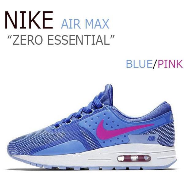 ナイキ スニーカー NIKE レディース エアマックス ゼロ ZERO エッセンシャル GS COMET BLUE コメットブルー FIRE PINK ファイアピンク 881229 401 シューズ