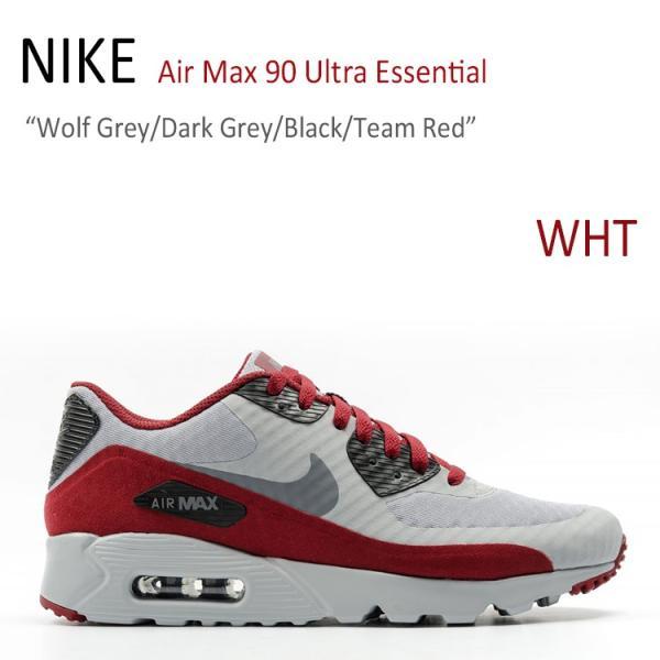 NIKE Air Max 90 Ultra Essential Wolf Grey Dark Grey Black Team Red ナイキ  エアマックス ... 953ac6006