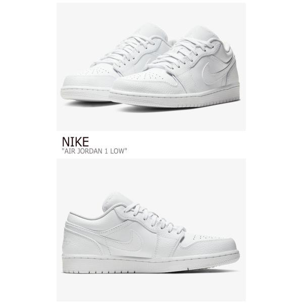 ナイキ エアジョーダン スニーカー NIKE メンズ AIR JORDAN 1 LOW エアジョーダン 1 ロウ WHITE ホワイト 553558-130 シューズ|option|02