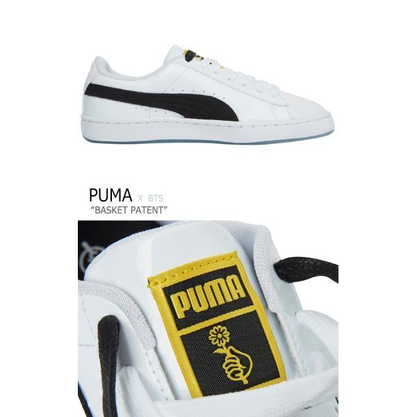 best loved 539f9 6b3e1 プーマ BTS スニーカー PUMA メンズ レディース BTS BASKET PATENT バスケットパテント WHITE ホワイト BLACK  ブラック 368278-01 36827801 シューズ