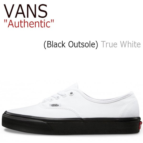 54bc236b5d バンズ オーセンティック スニーカー VANS メンズ レディース Authentic (Black Outsole) True White  ブラックソール ホワイト ...