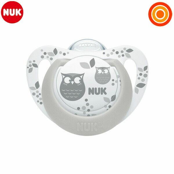 NUK(ヌーク) おしゃぶりジーニアス(消毒ケース付)/6-18カ月 フクロウ