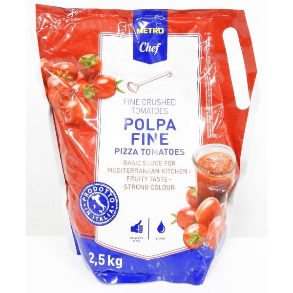 クラッシュドトマト フレッシュ (トマトピューレ)2.5Kg まとめ買い メトロシェフ とまと 業務用 プロ 飲食店 メトロ