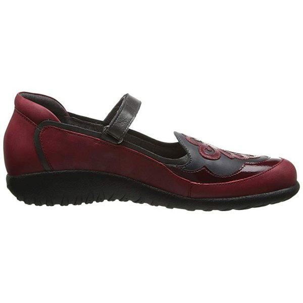 Naot Naot Motu レディース ローファー Ruby Leatheru002FBrushed Black Leatheru002FBeet Red Patent Leather