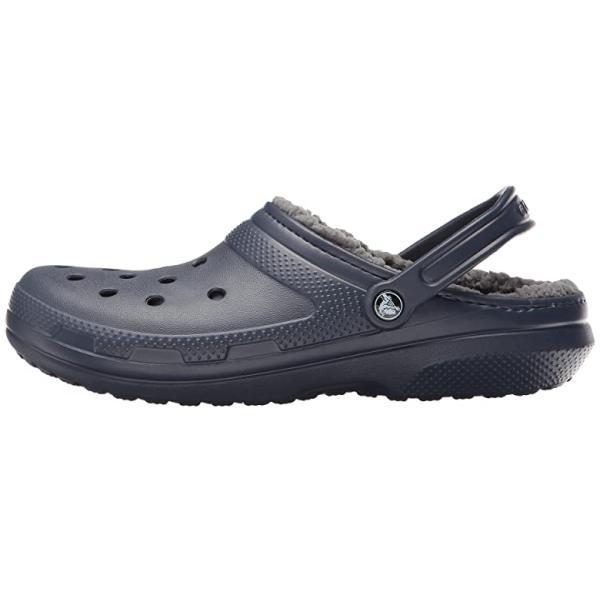 クロックス Crocs Classic Lined Clog レディース クロッグ ミュール Navy/Charcoal