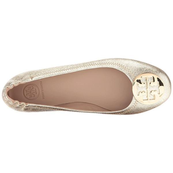 トリーバーチ Tory Burch Minnie Travel Ballet Flat レディース フラットシューズ Spark Gold