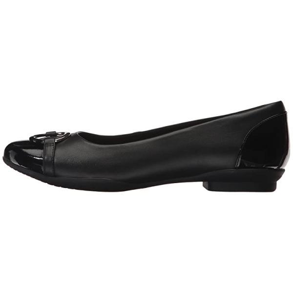 クラークス Clarks Neenah Vine レディース フラットシューズ Black Leather