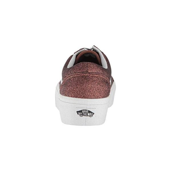 バンズ Vans Old Skool Platform レディース スニーカー (Glitter) Bronzeu002FTrue White