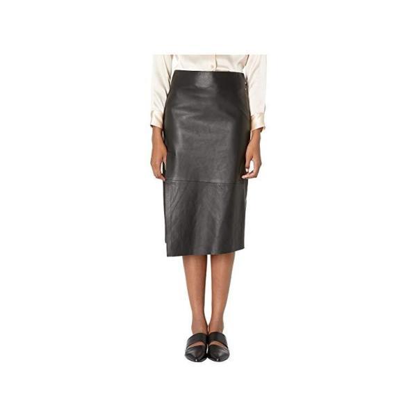 ヴィンス Vince Leather Slit Skirt レディース スカート Black