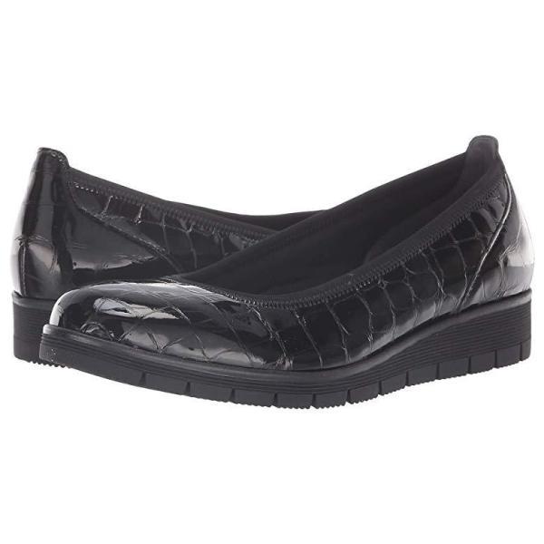 ガボール Gabor Gabor 95.340 レディース ローファー Black Croc Patent