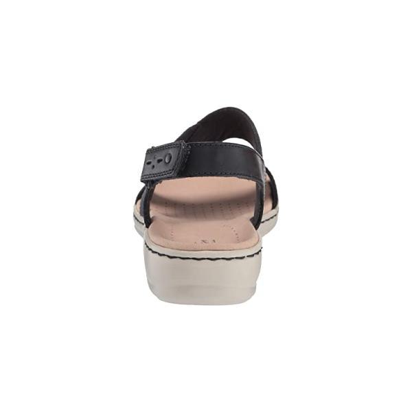 クラークス Clarks Leisa Joy レディース サンダル Navy Leather/Textile Combo