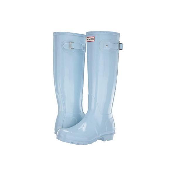 ハンター Hunter Original Tall Gloss Rain Boots レディース ブーツ Boat Blue
