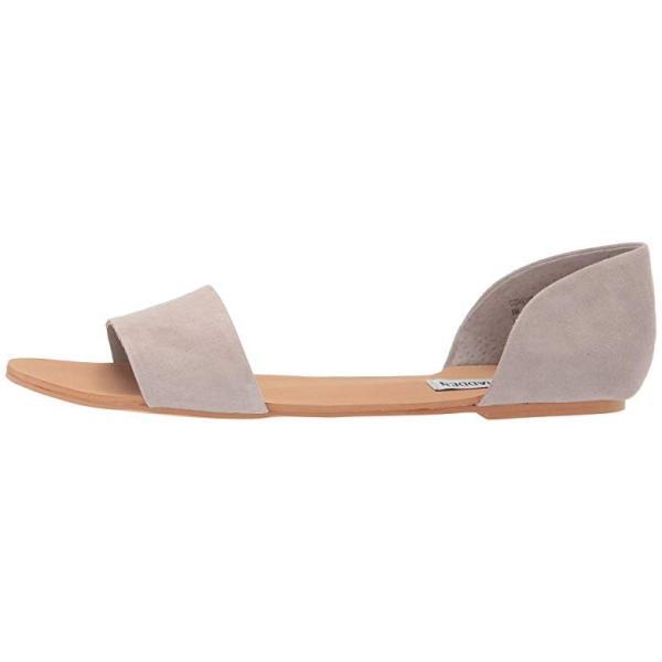 スティーブマッデン Steve Madden Corey Flat Sandals レディース サンダル Light Grey Suede