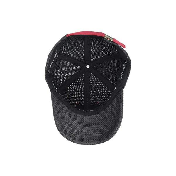 カルバン・クライン Calvin Klein Straw Baseball Hat w/ Logo Patch レディース 帽子 Black