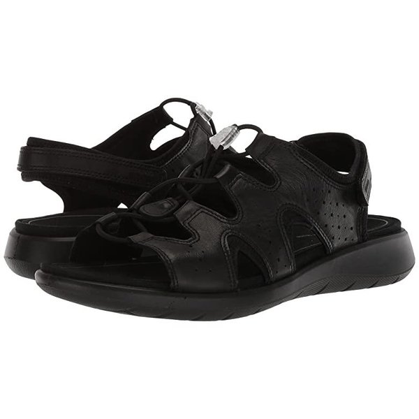 エコー ECCO Soft 5 Toggle Sandal レディース サンダル Black Cow Leatheru002FCow Nubuck