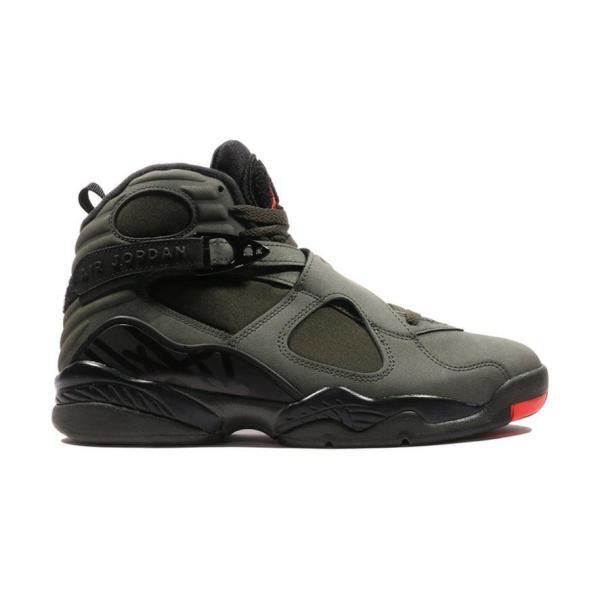 c3d476dadb6d JORDAN Nike Air Jordan 8 Retro メンズ SEQUOIA BLACK-WOLF GREY-MAX ORANGE