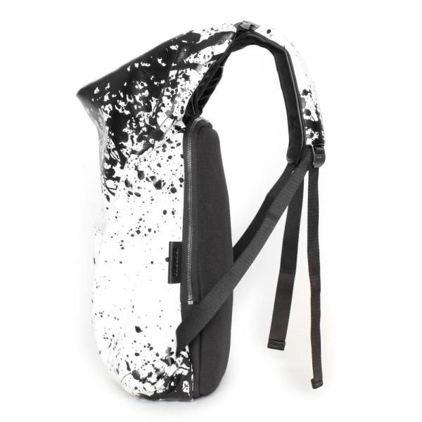 コートエシエル(Cote&Ciel)イタリアンレザーTimsahリュック ホワイトブラック/Timsah PRINTED ALIAS COWHIDE LEATHER White/Black 28664