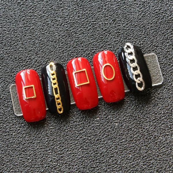 50個入り 12種類プレートフレーム メタルパーツ カーブあり ゴールド シルバー ネイルパーツ ブローチフレーム ネイル用品 GOLD フレーム orangecoco 09