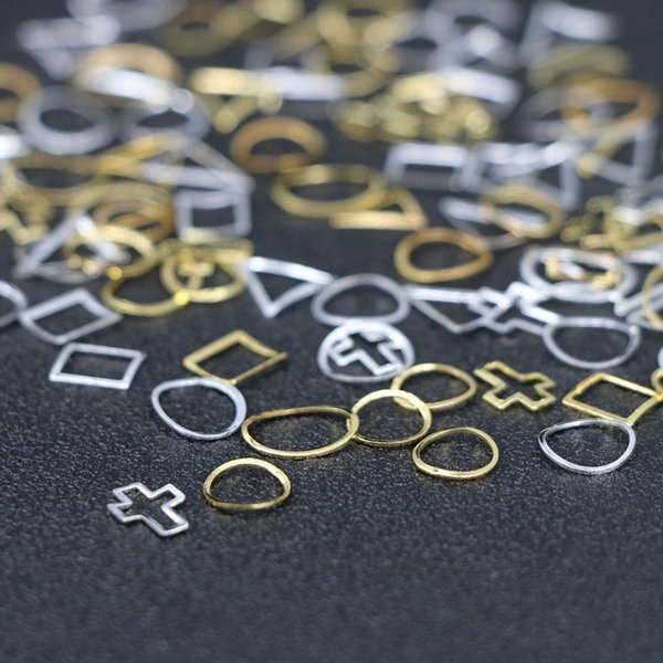 10個入り 12種類プレートフレーム メタルパーツ カーブあり ゴールド シルバー ネイルパーツ ブローチフレーム ネイル用品 GOLD フレーム|orangecoco|07
