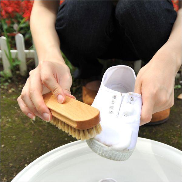 pedag 豚毛ブラシ 靴用 お手入れブラシ シューズ スニーカーを洗うのに最適 キャンバス・スエードの汚れ落とし ケア用品 クリーナー|orangecounty|02