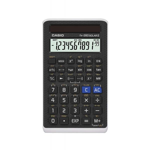 カシオ 関数電卓 fx-260 Solar II ブラック 並行輸入品|orangepeel