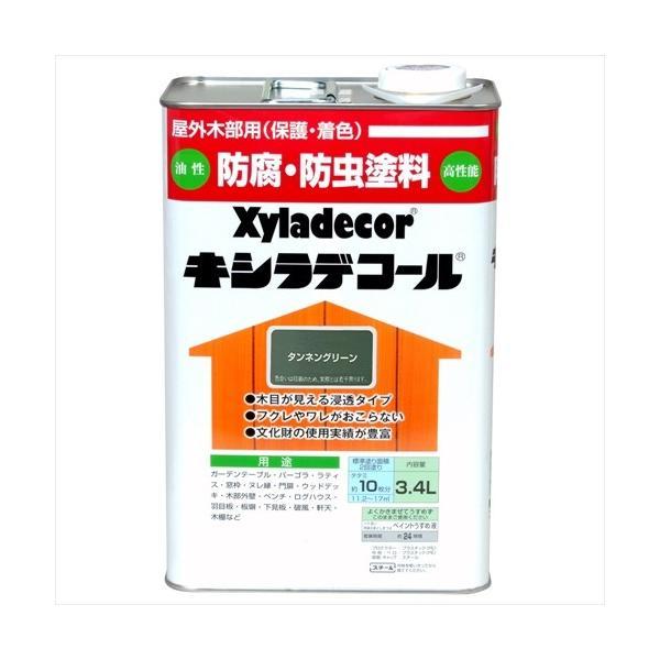 大阪ガスケミカル キシラデコール/3.4L タンネングリーン